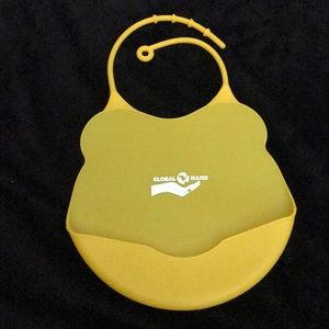 Yellow silicon baby bib